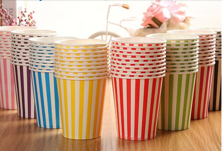 Colourful Paper Party Wedding DIY Events Drinking Tableware Cups