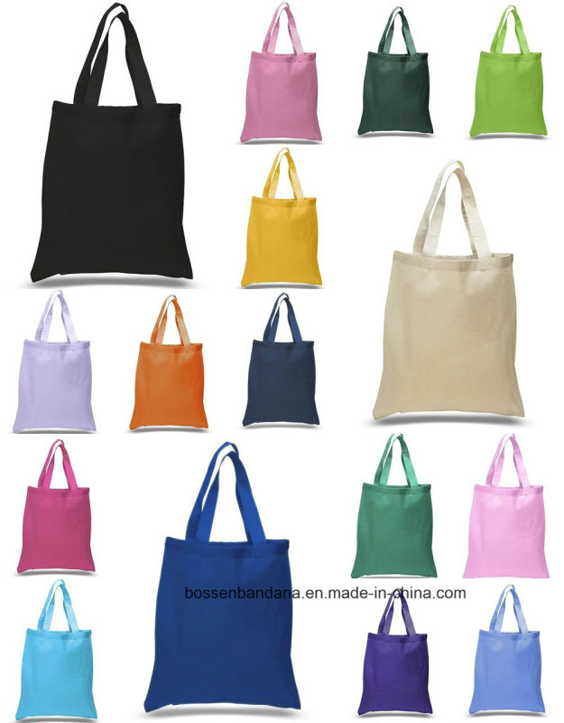 OEM Produce 100% Cotton Machine Washable Promotional Logo Printed Cotton Shopping Tote Bags