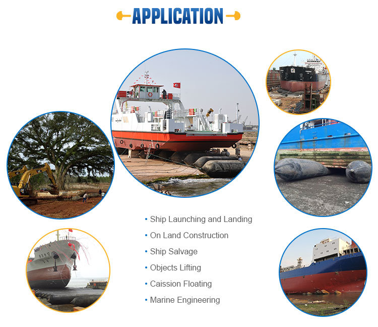 Rubber Ship Launching Marine Air Bag, Marine Air Balloon, Inflatable Rollers Airbag for Vessel Haul out and Pull to Shore, Salvage and Lifting