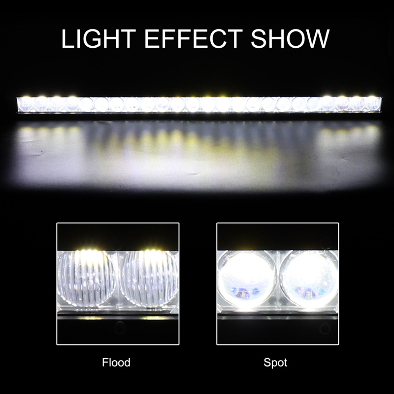 Slim 4D Lens 120W LED Offroad Car Light Bars