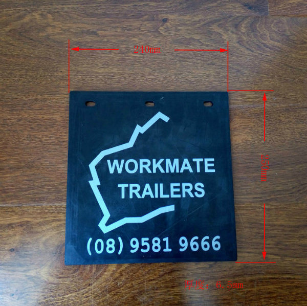 Hot Selling Black and White Rubber Mud Flap for Trailer