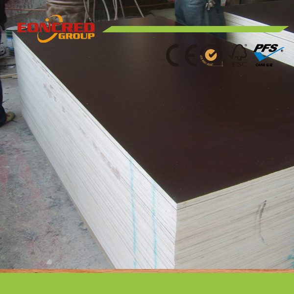 Black & Brown Film Faced Plywood with Logo for Shuttering