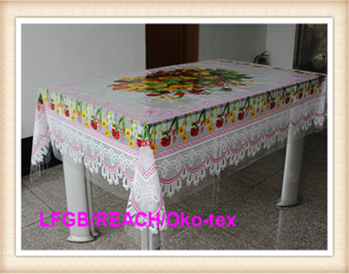 Transparent PVC Printed Tablecover Independent Design