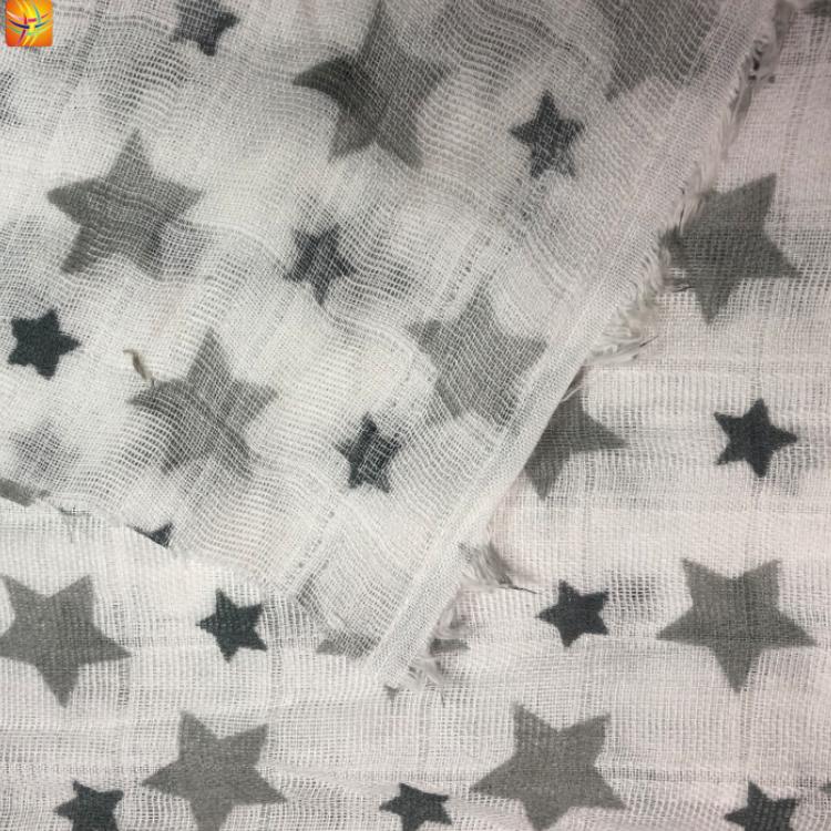Cotton Printed Muslin Baby Fabric