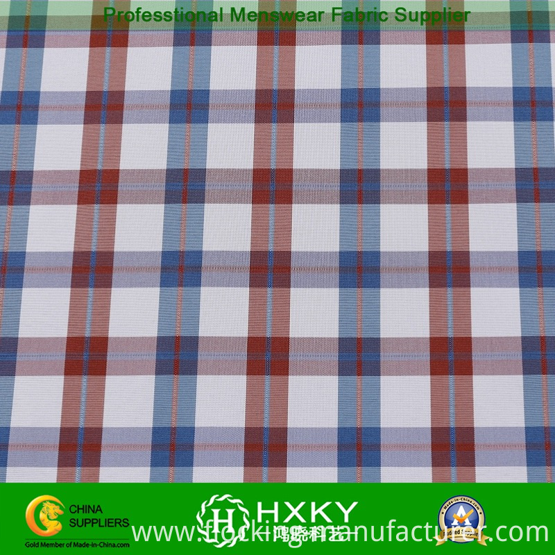 Polyester Yarn Dyed Fabric with Double Layer for Jacket or Shirt