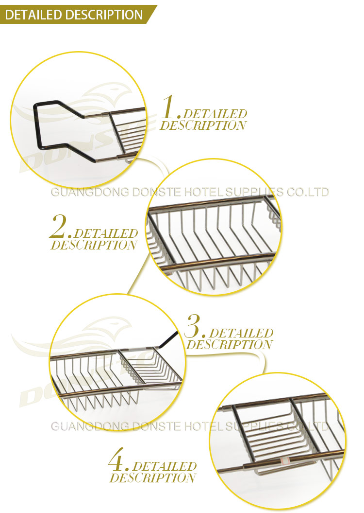 Metal Cleaning Supplies Rack for Hotel