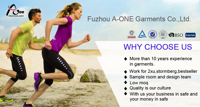 Colorful Running Wear Spandex Tights for Men