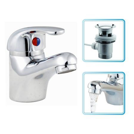 Sanitaryware Pull-up Brass Basin Drain with Rod