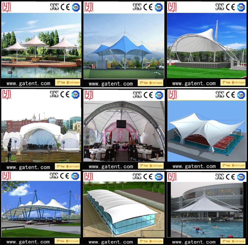 Waterproof Membrane Tension Frame Tensile Membrane Structure Dome Tent
