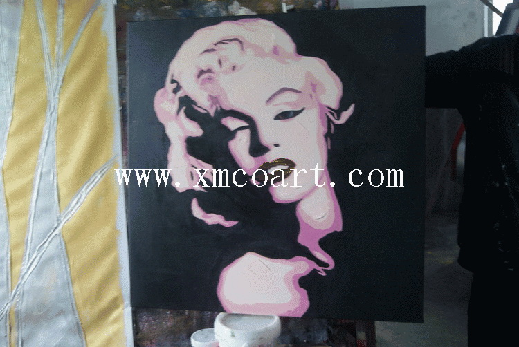 Modern Abstract Lady Oil Painting