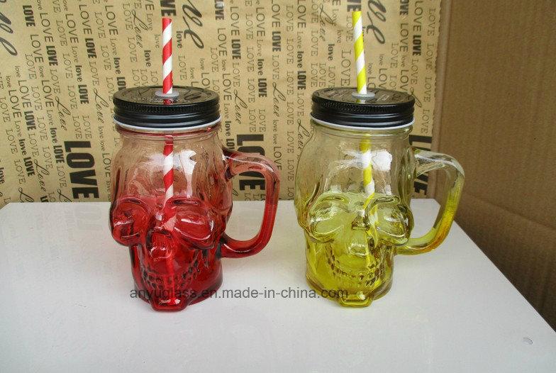 350ml Panda Shape Glass Mug for Mason Jar Drinking