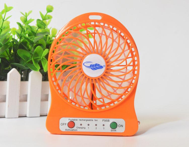Mini Rechargeable Portable USB Desk Fan DC Cooling Fan