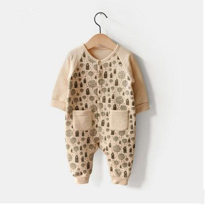 Hot Sale Winter Organic Cotton Romper with Printing Made From China