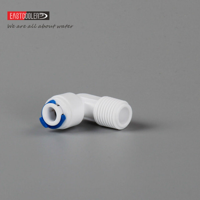 Fine EF002-V1 Elbow Threaded Plastic Quick Push in Fitting for Water Purifier