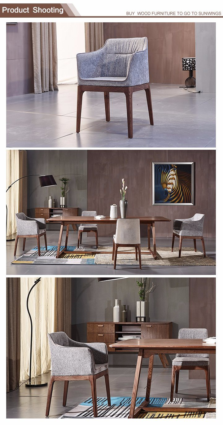 The Nordic Solid Wood Cloth Dining Chair for Dining Room