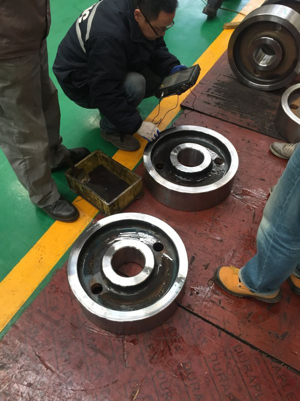 Forged 4140 Quenching and Tempering Wheel for Crane
