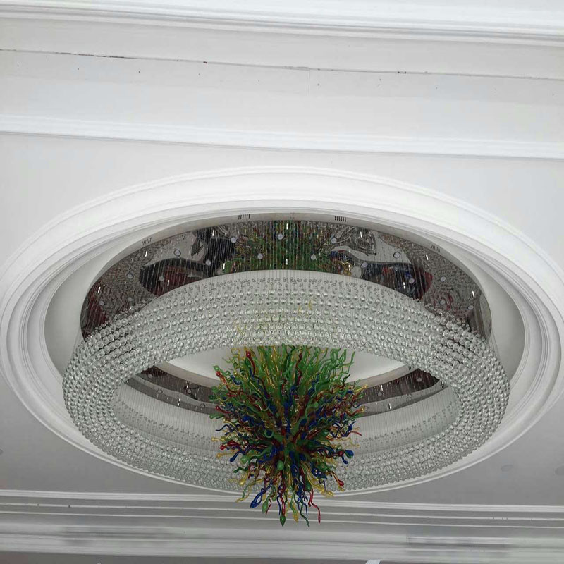 Big Size Round Luxury and Morden Crystal Project Lamp for Hotel Decoration