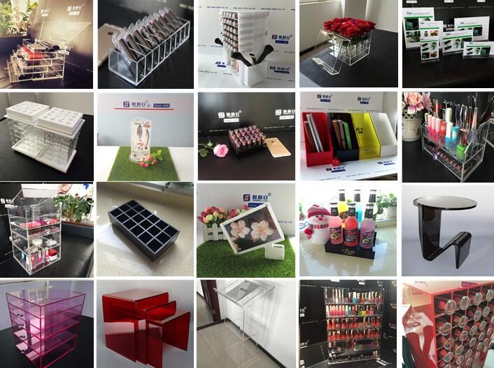 Balck Acrylic Cosmetic Lipstick Tower Organizer