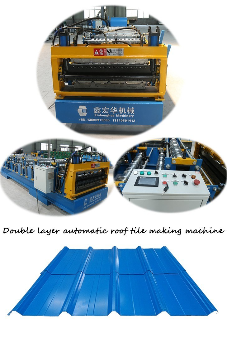 Double Layer Metal Roof Panel Roll Forming Machine Making Machine From China Price