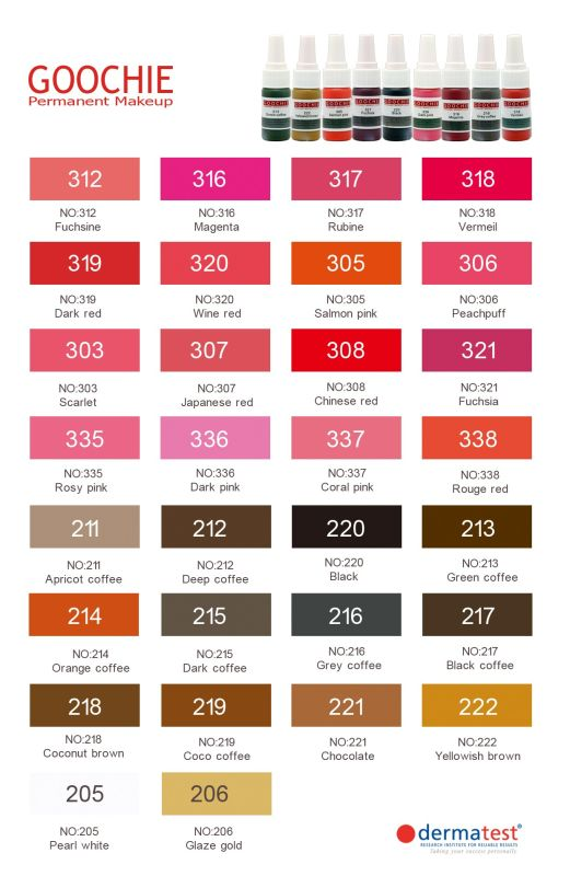 High Quality Micro Permanent Makeup Ink with Various Colors