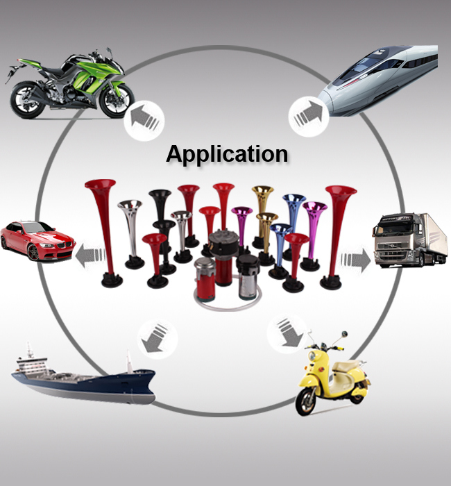 Air Woofer Horn Speaker for Motorcycle Parts