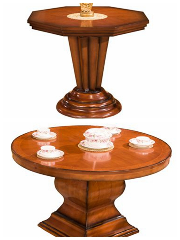 Luxury Wooden Dining Round Table for Hotel Restaurant Furniture