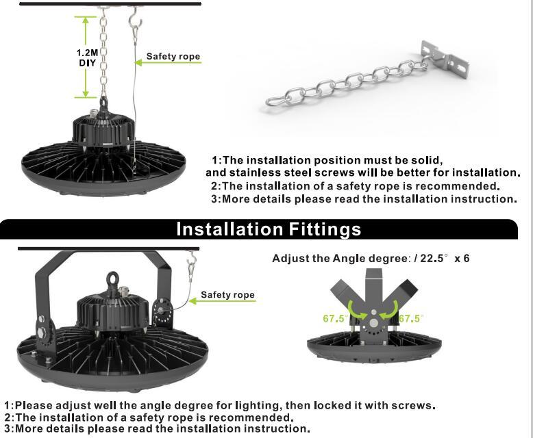 Factory Price 200W Waterproof UFO LED Highbay