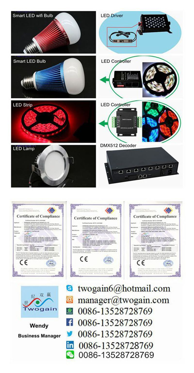 Wholesale Aluminium 8W E27 RGB Smart LED Lighting Housing Energy Saving Smart WiFi Bulb Lamp Light 220V
