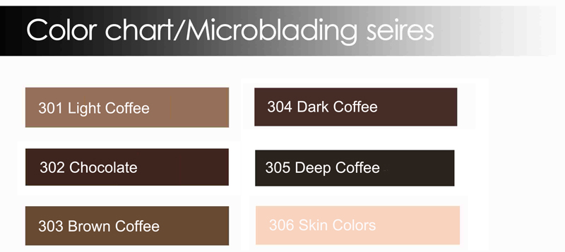 3D Eyebrow Embroidery Pigment Cream Kits Microblading Pigment Kits