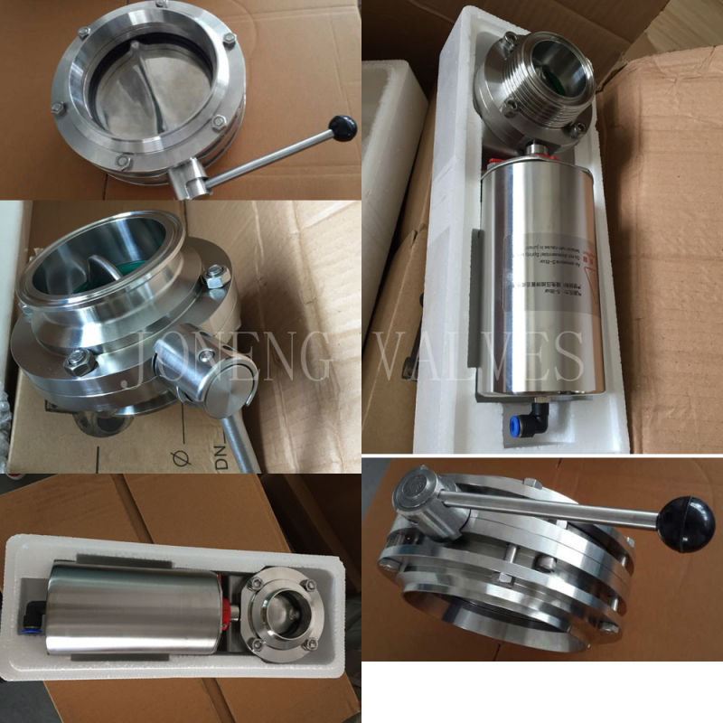 Stainless Steel Food Grade Manual Welded Butterfly Valve (JN-BV1001)