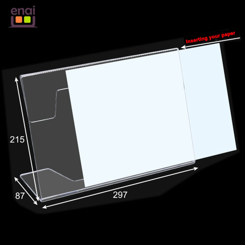 Cheapest But High Quality Plastic PS Card Display Stand as Sign Holder