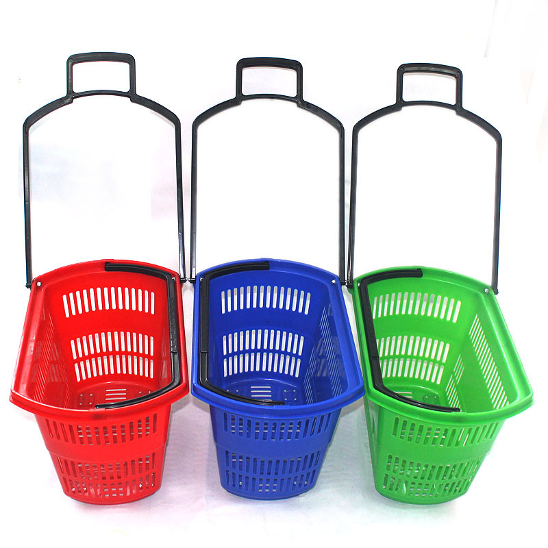 New Products PE Material Supermarket Plastic Shopping Basket