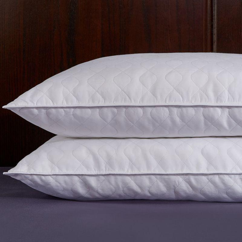 White Polyester Microfiber Filling Home Bed Pillow
