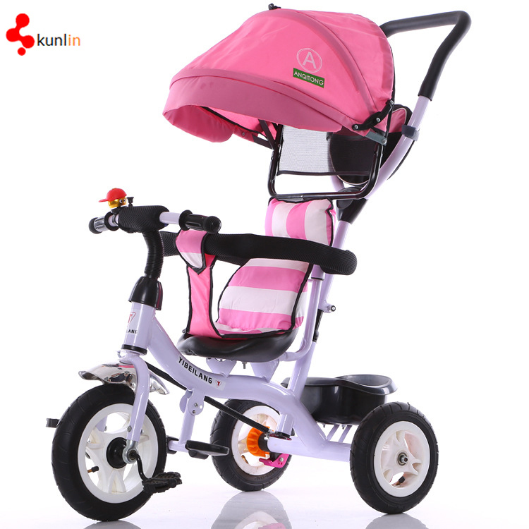 Kid Three Wheel Bicycle/Adjustable Seat Safety Baby Trike
