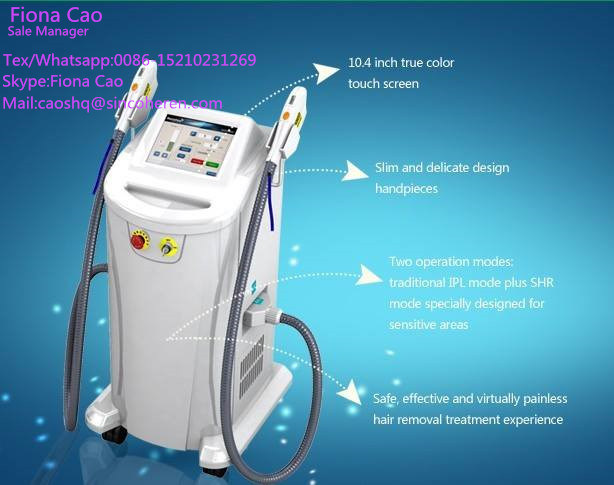 OEM Best Shr IPL Beauty Machine for Permanent Hair Removal and Skin Tightening