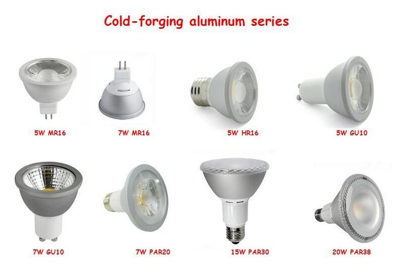 7W ETL Listed 630lm GU10 LED Spotlight