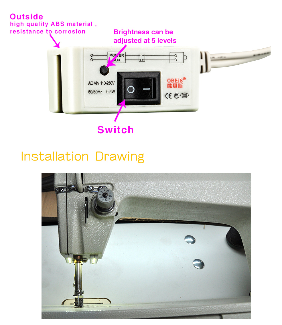 China Best Quality of Sewing LED Light (OBS-812MDT)