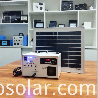 solar lighting and radio kit