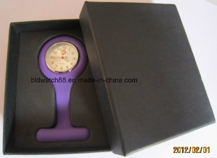 Promotinal Silicone Hanging Nurse Fob Watch with Japan Movement