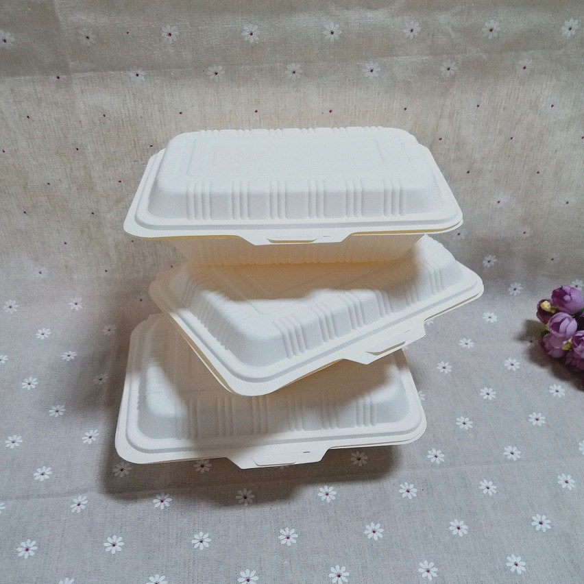 Take out Cornstarch Food Packaging Box Biodegradable Food Container