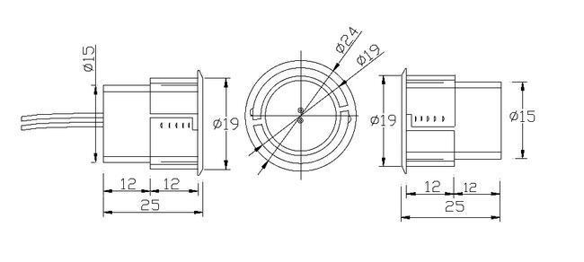 Steel Door Magnetic Contacts Magnetic Switch Nc Magnetic Contact for Door or Window