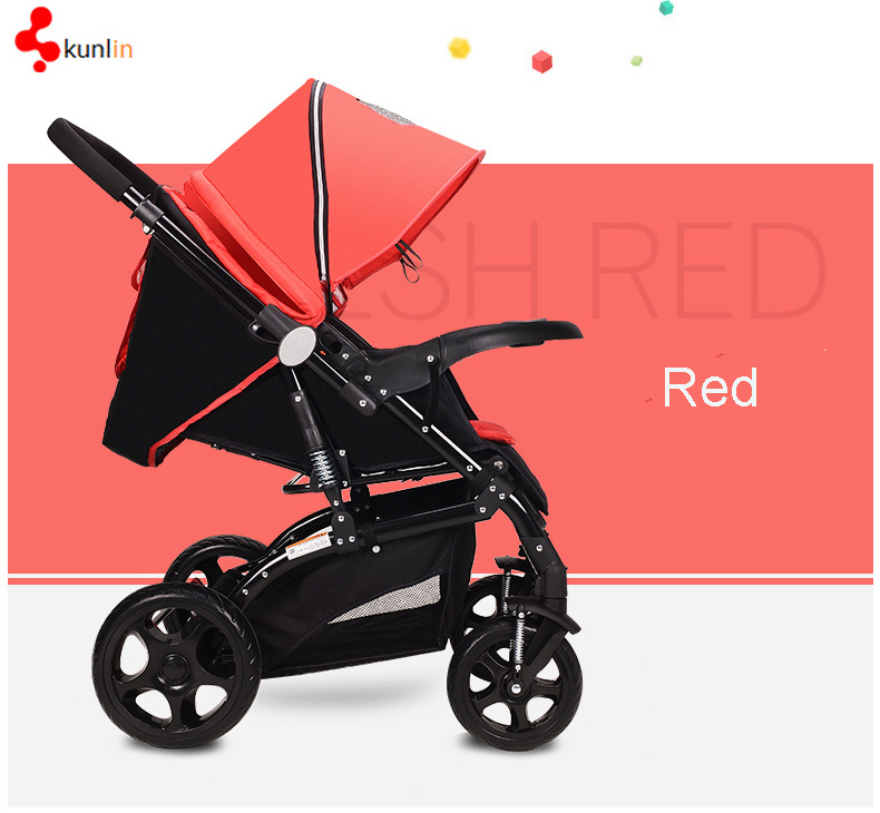 Baby 3 in 1 Pram with Large Canopy