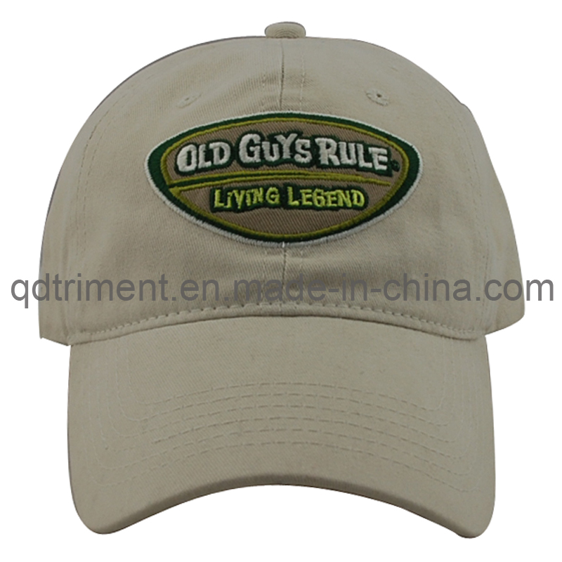 Washed 100% Cotton Twill Embroidery Golf Sport Cap (TMB0839)