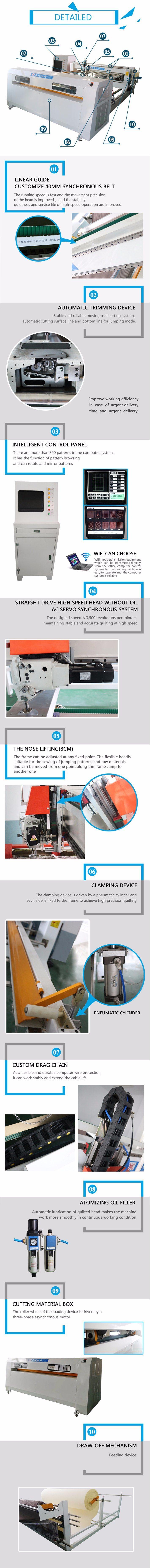Dn-6 Quilting Machine for Gantry Frame