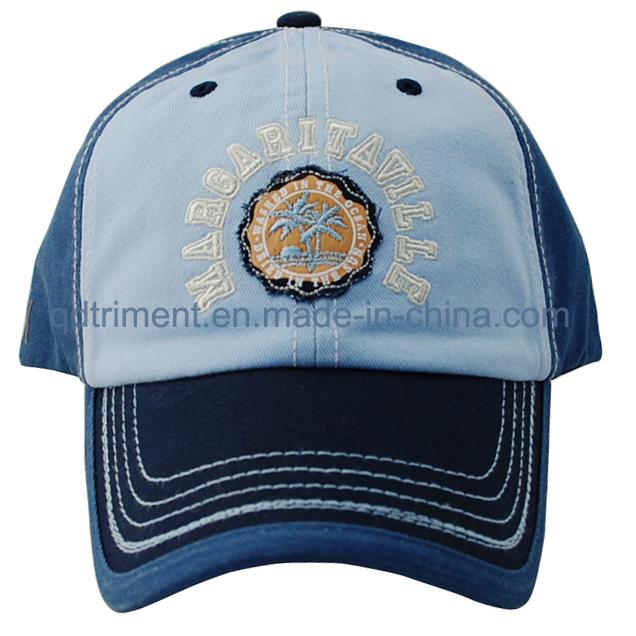 100% Cotton Felt Applique Custom Baseball Leisure Cap (TMB6231)