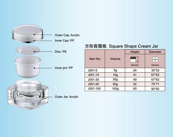 15g 30g 50g 100g Best Quality Acrylic Cosmetic Jar