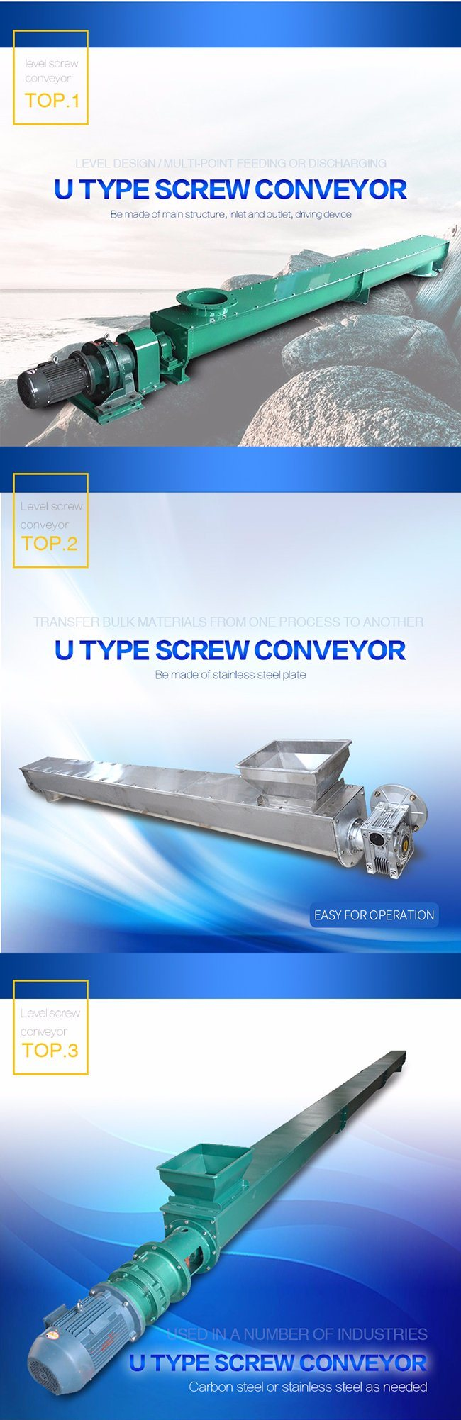 Auger Screw Conveyor for Conveying Bluck Material
