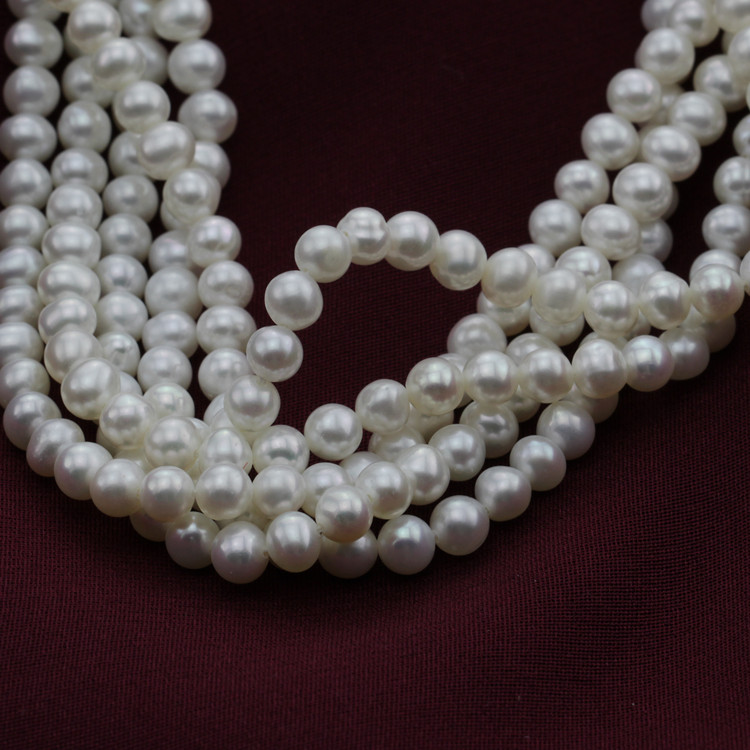 4mm Mini Size Natural Cultured Real White Pearl Bead String