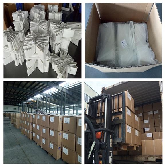 Dust Collector Fiberglass Nonwoven Filter Bag for Mix Asphalt Plant