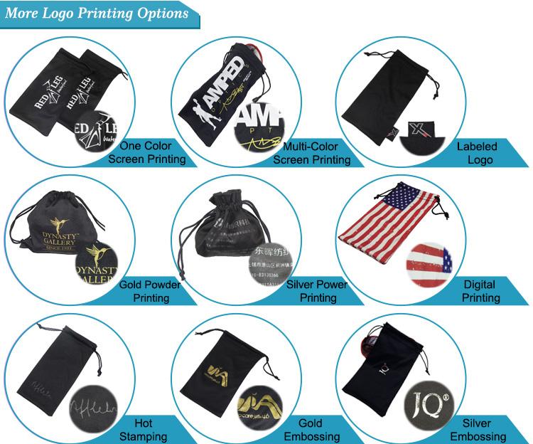Custom Microfiber Gift Bags with Drawstring